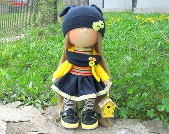 Ana muñeca hecha a mano muñeca tela muñeca por NICEDOLLSANDRABBITS