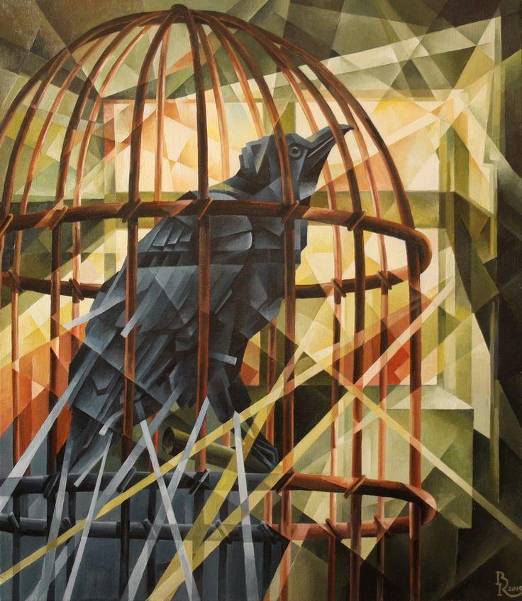 Raven. Cubo-futurism. Krotkov Vassily. 2015