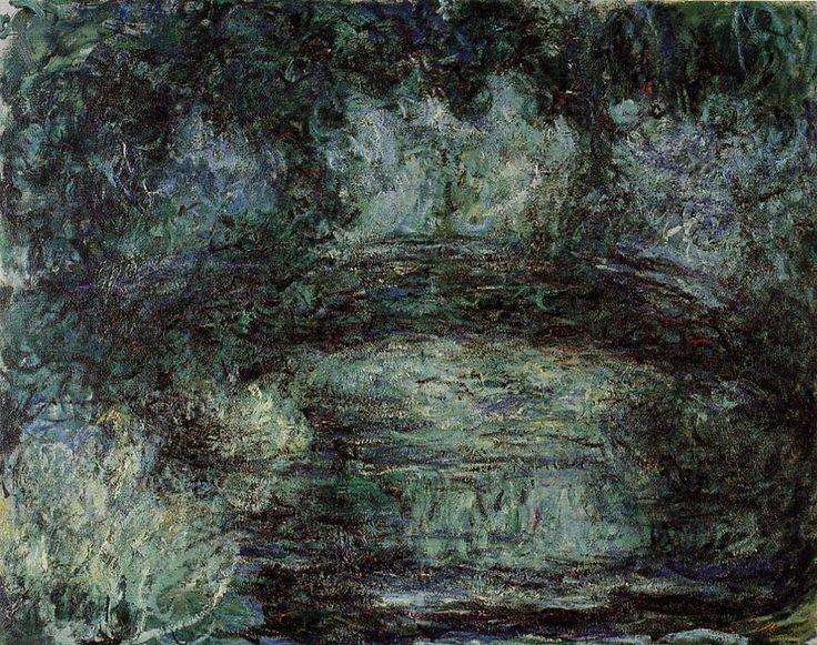 Acheter Tableau 'Le Pont japonais 2' de Claude Monet - Achat d'une reproduction sur toile peinte à la main , Reproduction peinture, copie de tableau, reproduction d'oeuvres d'art sur toile
