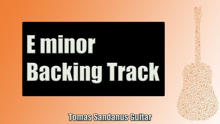 Backing Track in E Minor Funky Pop Rock Style with Chords and E Minor Pentatonic Scale