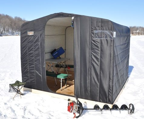 17 best ideas about ice fishing shelters on pinterest for Ice fishing tents
