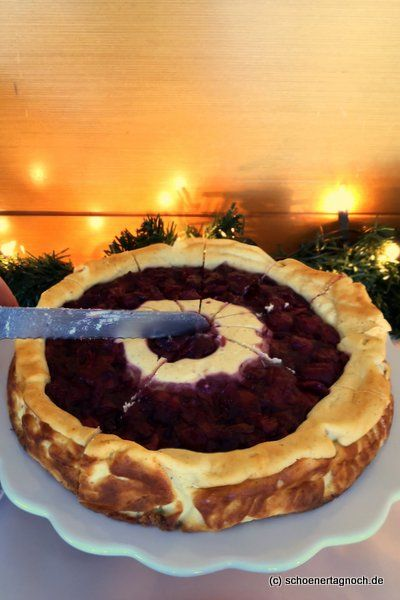 Cheese cake with mulled wine cherries – Have a nice day! Food blog with delicious recipe   – Thermomix