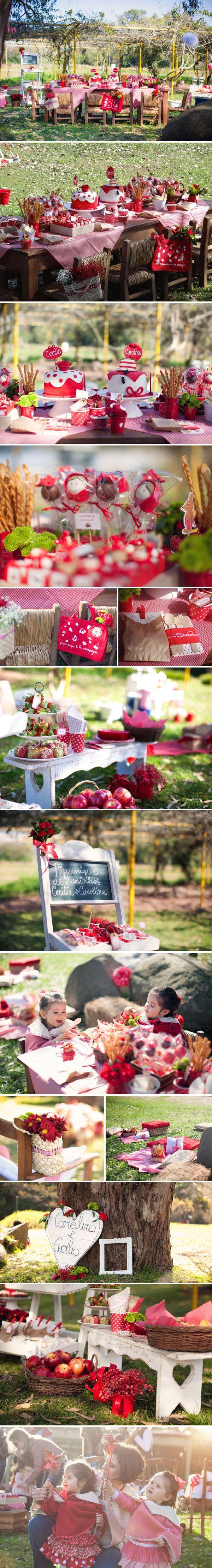 Lindo aniversário ao ar livre no Jardim Botânico de Porto Alegre
