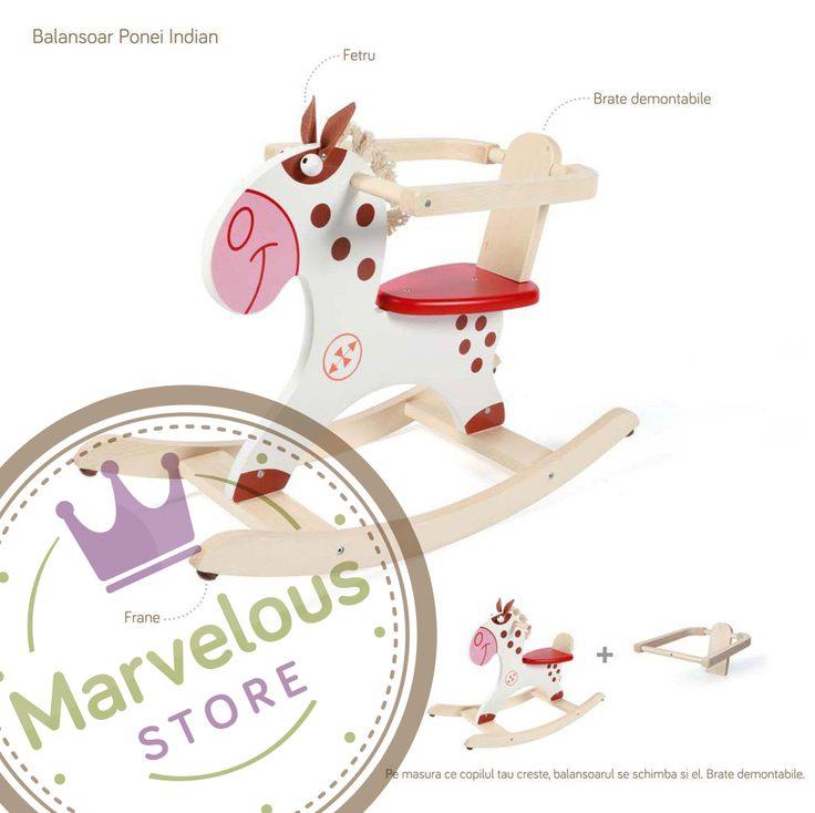 Marvelous Store www.marveloustore.ro - Brand Identity by @One Giraphe #logo #logodesign #branding #brandidentity #woodtoys #kids #baby #rockinghorse #jucariidelemn #lemn #jucarii #bucuresti