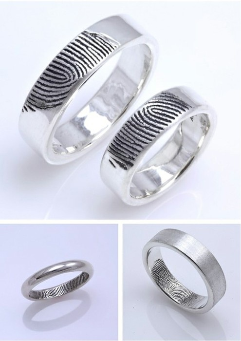 """just dark ring with light fingerprint. Nicest way EVER to say """"You're mine"""". :)"""