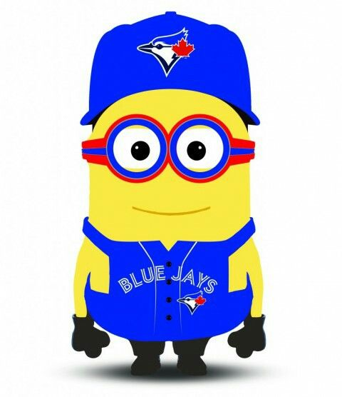 #BlueJays Minion, so cute! Let's get the bat swinging boys!!!!!
