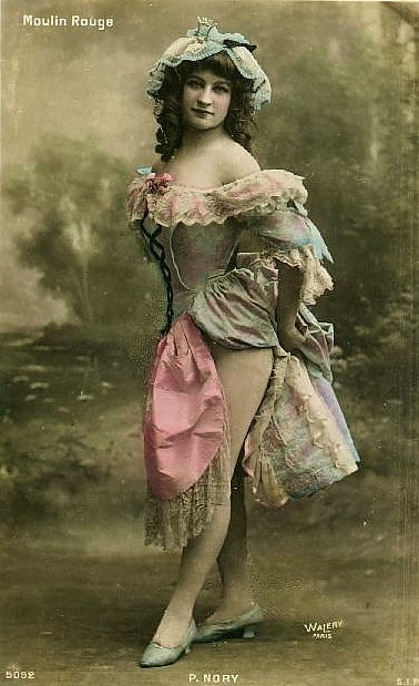 Moulin Rouge Dancer In Paris, France, Circa 1890's
