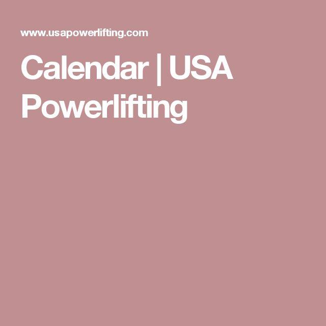 Calendar | USA Powerlifting