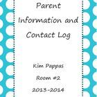 Free and Editable Parent Contact and Communication Log