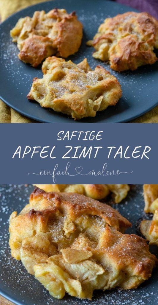 Herbst Soulfood, saftige Apfel Zimt Küchlein mit Quark Öl Teig. Schmecken beso…