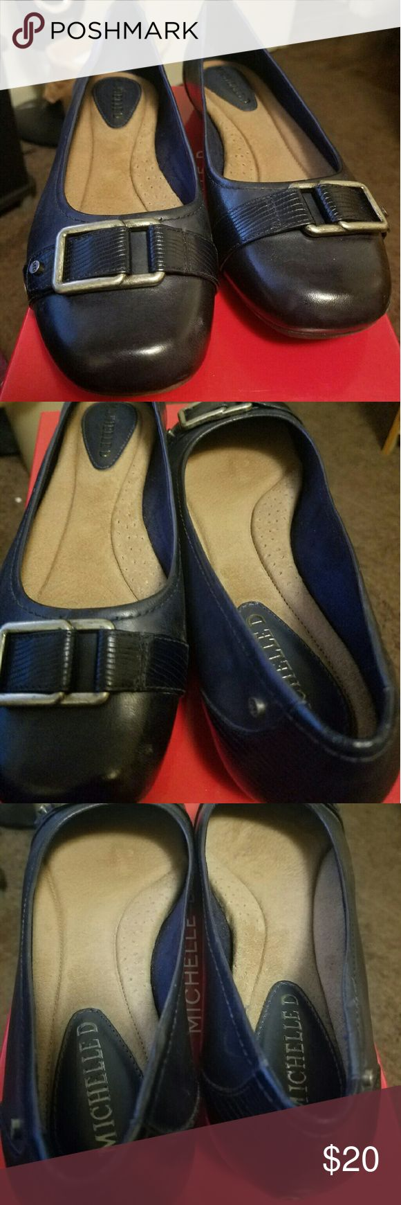 Michelle D flats Navy flats Shoes Flats & Loafers