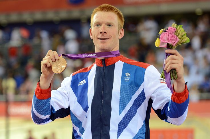 Ed Clancy on the podium at London 2012
