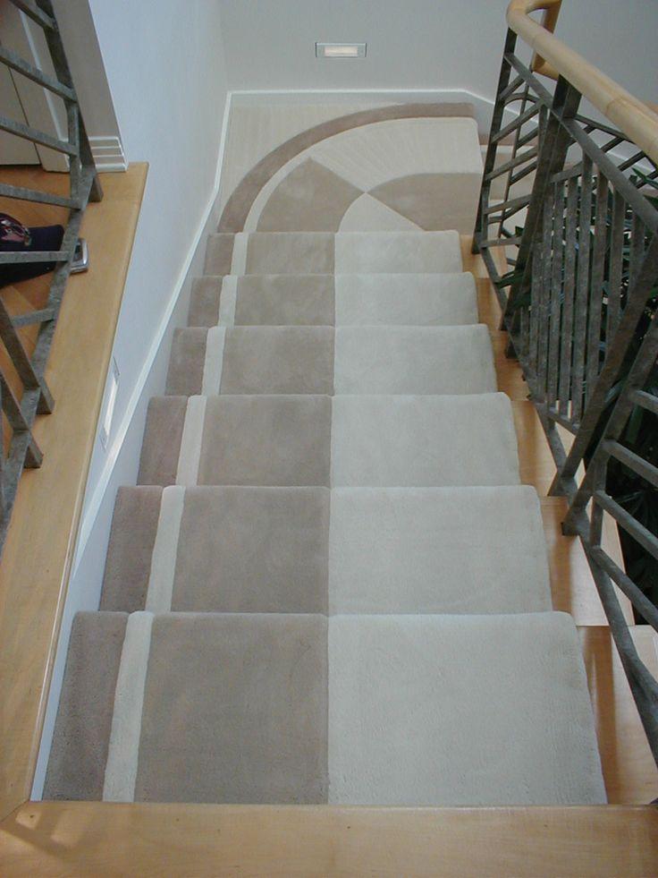 Best Custom Carpet Stairs Neutral Colors Custom Rugs 640 x 480