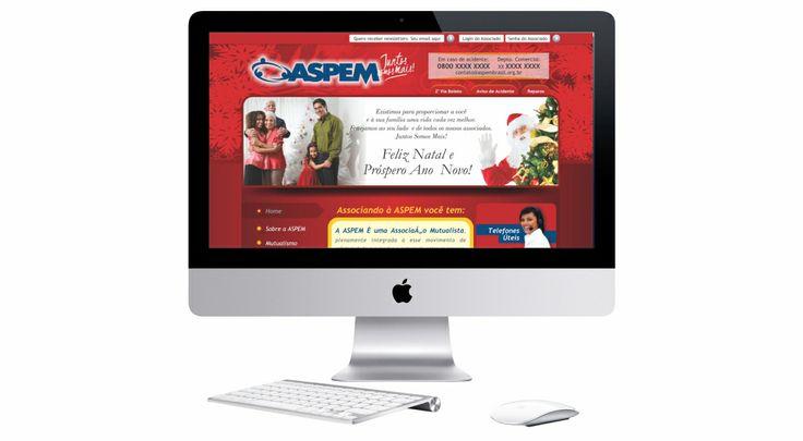 Site com tema natalino para a associação ASPEM BRASIL.