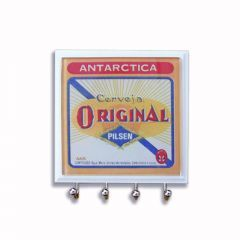 Porta Chaves em Vidro Cerveja Original - Artesanal