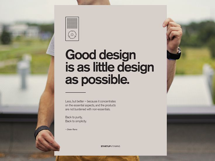 Good design is as little design as possible #design