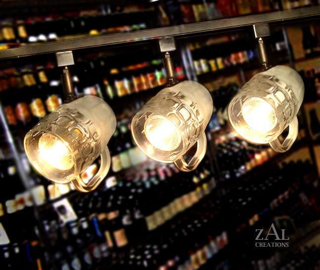 LOL!!  Beer mugs Track Lighting Fixture 3 Track lights & by ZALcreations, $260.00