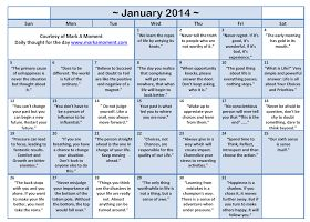 Daily thoughts: Motivational Thoughts Calendar