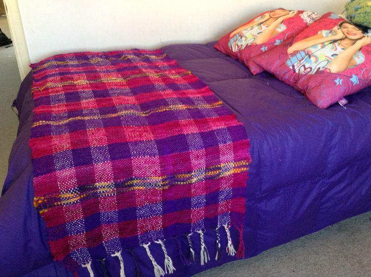 Piecera lana natural de chiloe