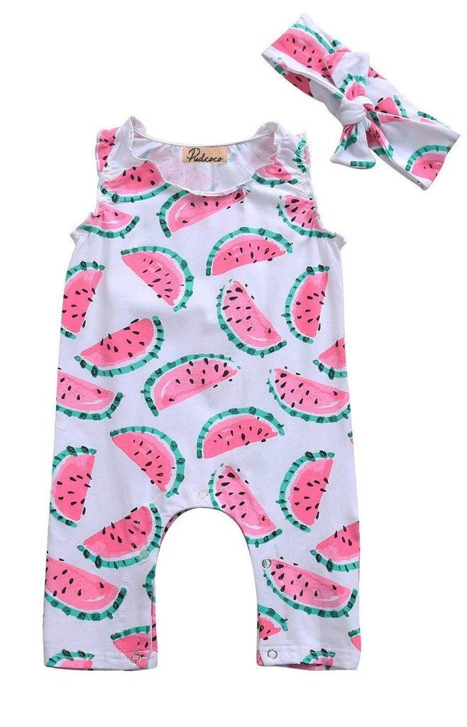 Watermelon Baby Girl Summer Romper