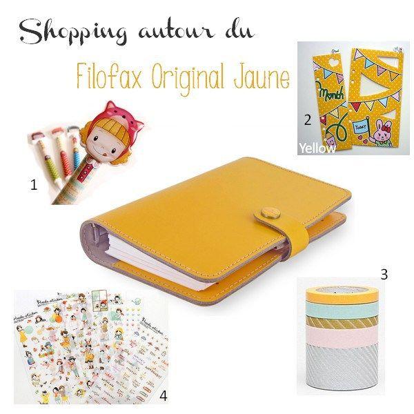 shopping filofax  original jaune
