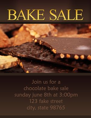 bake sale flyers free flyer designs - HD 1700×2200