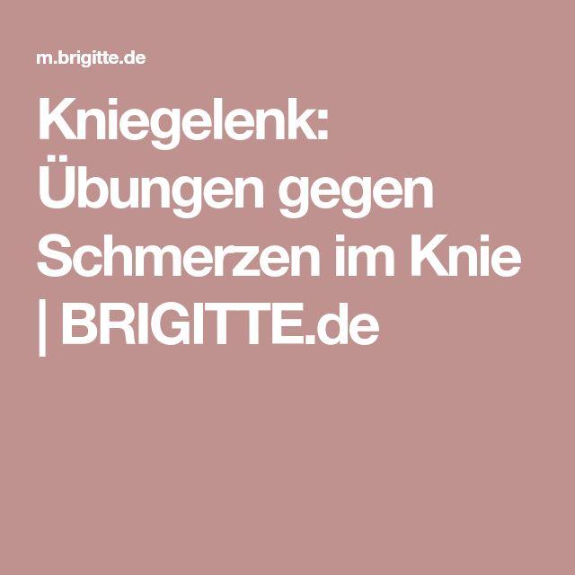 Kniegelenk: Übungen gegen Schmerzen im Knie   BRIGITTE.de