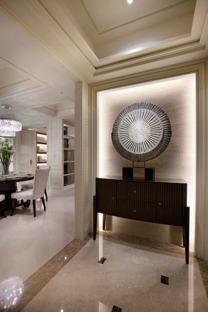 Hotel Entrance Foyer : Elevator alcove ambiance you can put an accent artpiece