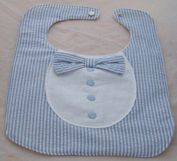 Baby Bib, Bow Tie, Handmade. $20.00, via Etsy.
