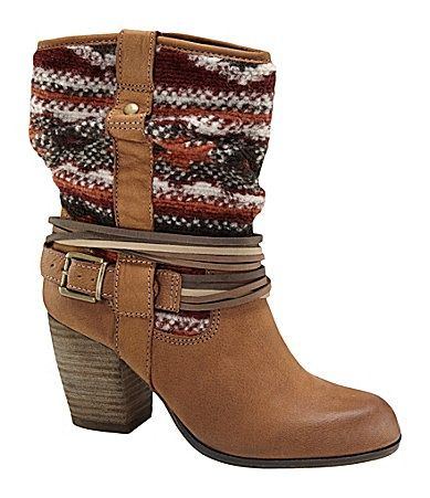 steve madden tolteca tribal-print boots- just bought these at DSW the other  day!