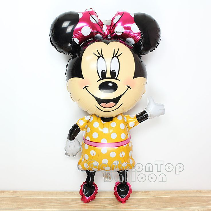 Large 45inch mickey balloons Minnie Mouse Airwalker Foil Balloon Mickey Mouse balloon minnie mouse & mickey mouse party supplies