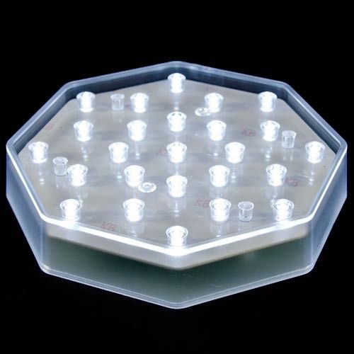 "6¼"" Illuminating 25 Clear LED Centerpiece Light Base - WholesaleFlowersAndSupplies.com"