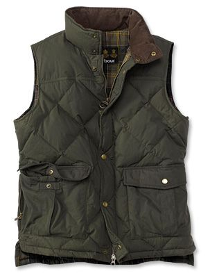 Barbour Vest by Orvis... I'm sorry, but men have much more practical, stylish, and structured clothing. It really sometimes makes me jealous.