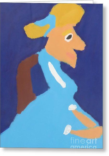 Patrick Francis Greeting Card featuring the painting Portrait Of Adeline Ravoux 2014 - After Vincent Van Gogh by Patrick Francis