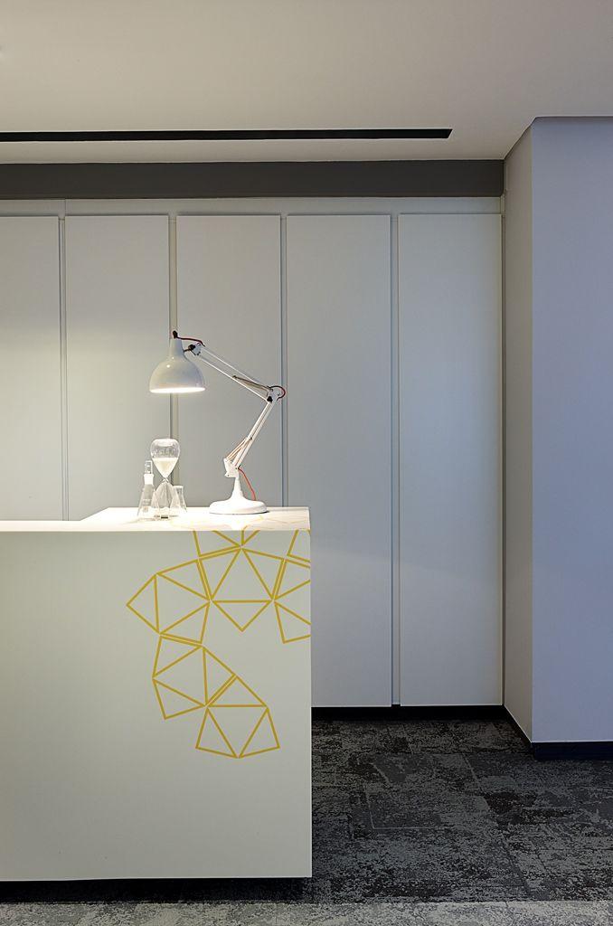 SABIC Office Reception detail. Interior design by Source Interior Brand Architecture.