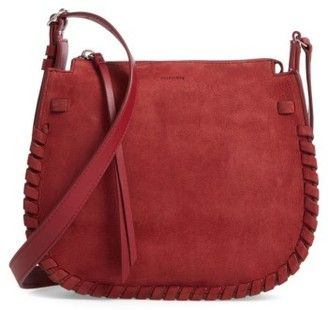 Allsaints Ray Nubuck Crossbody Bag - Red #handbags