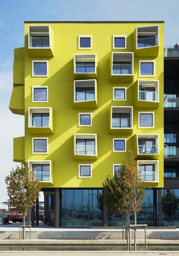 Out of the Box: Denmark's Senior Housing Complex. This fanciful housing complex by the Copenhagen architectural practice JJW Arkitekter is comprised of apartments for 114 residents, workspace for the community's staff, and a range of ground floor 'shops' which provide residents with services, including a cafe, hairdresser, and dentist.