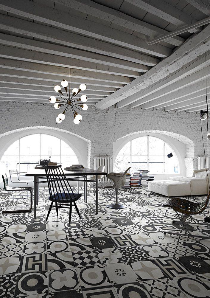 Piastrelle: Collezione Cementine Black&White da Ceramica Fioranese   #design #cersaie2014 #cersaie #interiordesign  