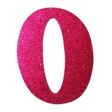 Letra Cursiva em Gliter - O - Pink -