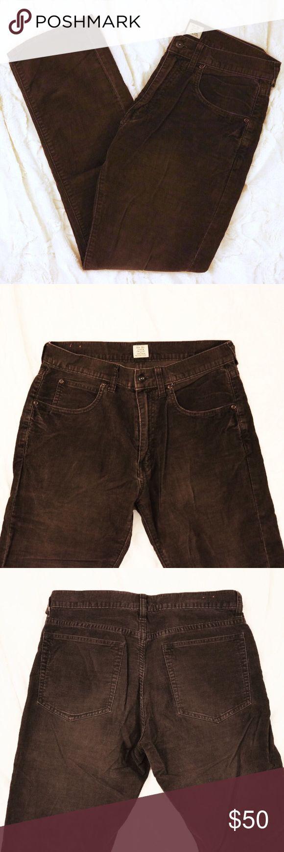 J. Crew Cord Pants Dark brown corduroy pants with a straight leg style. 30w 30l. 100% cotton J. Crew Pants Corduroy