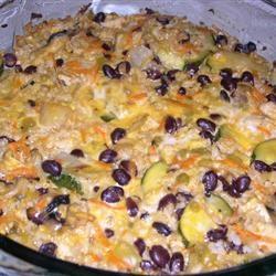 Brown Rice and Black Bean Casserole | VEGAN | Pinterest