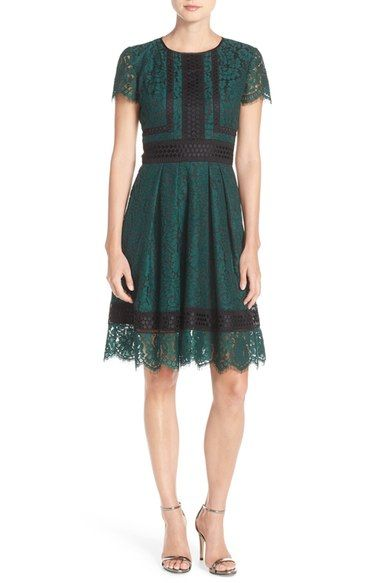 Eliza J Green and Black Dress - Nordstrom