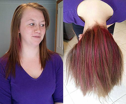 Hot Pink Undercert colour, hairserenity