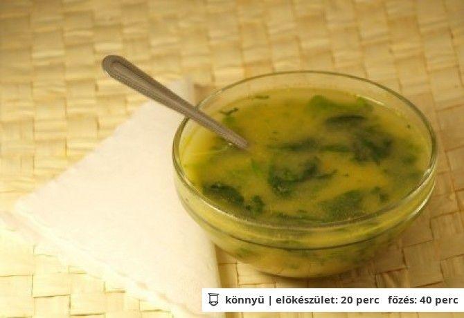 Portugál spenót leves   NOSALTY – receptek képekkel
