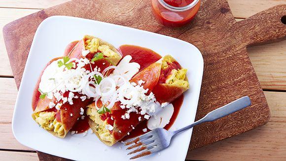 Enchiladas Mexicanas De Pollo Enchiladas rojas relle...