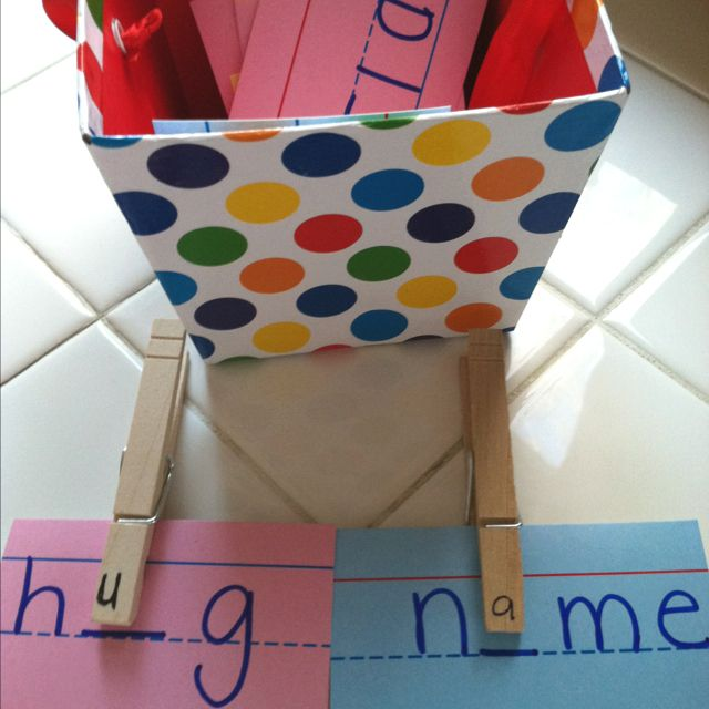 Clothespin vowels