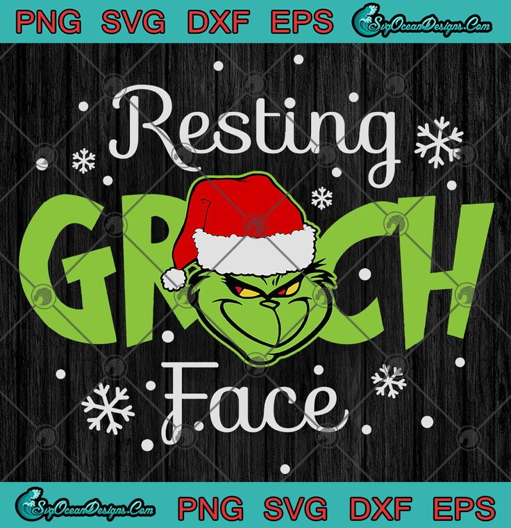 Download Resting Grinch Face SVG PNG EPS DXF - The Grinch Christmas ...