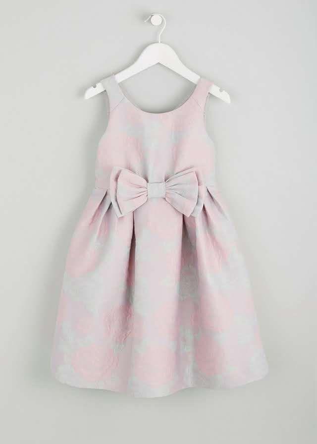 Girls Jacquard Occasion Dress (3-13yrs) View 1