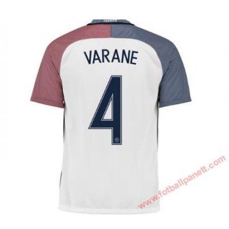 Frankrike 2016 Raphael Varane 4 Bortedrakt Kortermet.  http://www.fotballpanett.com/frankrike-2016-raphael-varane-4-bortedrakt-kortermet-1.  #fotballdrakter