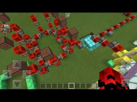 Minecraft Pe: Piston Redstone Clock - YouTube
